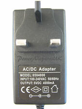 4A/4000MA 5V AC/DC MAINS REGULATED POWER ADAPTOR/SUPPLY/CHARGER/PSU