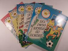 Les Pieds Nickelés Jacarbo Série complète de 6 volumes  Ed. SPE 1982 TBE