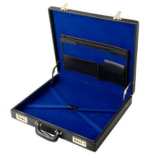 Brand New Genuine Real Leather Classic Layflat WM or MM Masonic Regalia Case