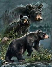 Black Bear Lenticular 3D Picture Animal Poster Painting Home Wall Art Decor