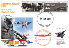 "PAF13-8T4 FDC NETHERLAND ""60 years French Patrol / ALPHAJET & MIRAGE 2000"" 2013"
