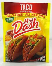 Mrs Dash Salt Free All Natural Taco Seasoning 1.25 oz (3 Pack)