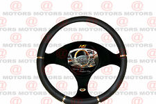 """Black Chrome Steering Wheel Cover Artificial Leather Fits All Car 14.37"""" Luxury"""