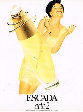 PUBLICITE ADVERTISING 045  1994  ESCADA  parfum femme  ACTE 2