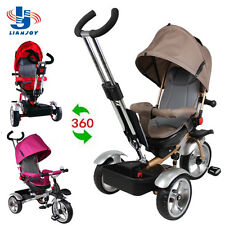 NEW 3 WHEELS TRICYCLE RIDE ON TOY BABY PRAM TODDLER STOLLER REVERSIBLE JOGGER