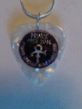 Guitar Pick Pendant necklace missing 1958- 2016 Prince Visual Rock 18 inches