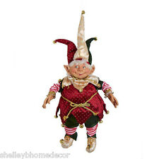 Christmas Jester pot belly Elf 25 inch posable arms and legs 50774h NEW