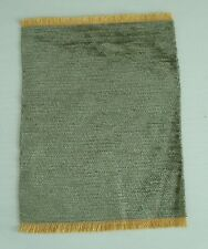 NEW 1:12 SCALE DOLLS HOUSE VELVET PILE GREEN RUG FOR A DOLLS HOUSE