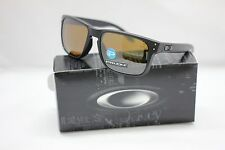 OAKLEY POLARIZED HOLBROOK SUNGLASSES | MATTE BLACK / PRIZM TUNGSTEN | 9102-D755