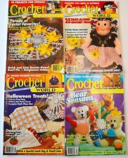 4 Crochet World Apr Aug Oct 1994 Dec 1995 87+ Projects Halloween Xmas Gifts Baby