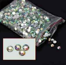 4mm 1000Pcs DIY Nail Art Flatback Crystal AB Resin Round Rhinestone Beads Decors