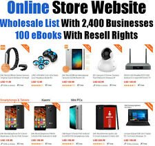 Online Website + 100 eBooks Wit Resell Rights + Wholesale List - Home business
