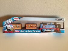 Trackmaster-RED VS BLUE THOMAS -battery operated motorized- NEW in Pkg Free Ship