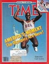 TIME MAGAZINE JULY 30 1984 SPECIAL ISSUE ON THE OLYMPICS CARL LEWIS