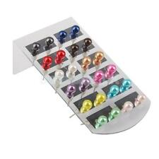 Wholesale lot 24pcs Mixed colors Round Faux Pearl Earring Piercing Ear studs