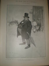 The Seven Ages of a Dutchman The Justice by Tom Browne 1902 print ref Z