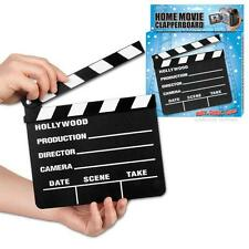 New Hollywood Movie Slate Black Wood Board Clapperboard Slate Accoutrements