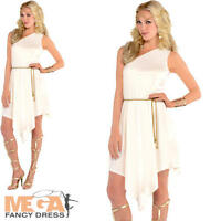 Roman Goddess Ladies Fancy Dress Grecian Toga Greek Womens Adults Costume 8-12