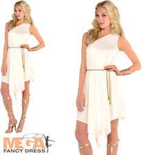 Diosa Romana Damas Vestido Elaborado Disfraz De Mujer Griego Toga Griego adultos 8-12