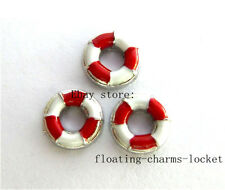 10pcs life ring Floating Charms for Glass Locket Free Shipping FC758