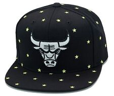 NEW Mitchell & Ness CHICAGO BULLS Black Glow In the Dark Snapback Cap Hat