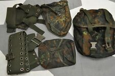 Genuine German Army Flecktarn Camo Combat Webbing - 5 PCS Basic Kit Excellent