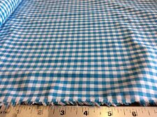 "TURQUOISE 1/4"" COTTON GINGHAM BY FABRIC FINDERS- 60 INCH WIDE-- BY THE YARD"