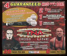 2008 TRISTAR TNA CROSS THE LINE WRESTLING SEALED HOBBY BOX auto event-used sting