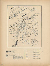 1970 SMITH & WESSON 51 22/32 Kit Gun Revolver Schematic Exploded Parts List Ad