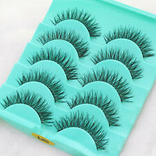 5 Paare Lang Dick Künstliche Falsche Wimpern Fake Eyelash Kit Make Up #L25