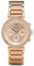 Coach 14502038 Sport Rose Gold Dial Rose Gold Chronograph Women's Watch