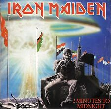 IRON MAIDEN 2 MINUTES TO MIDNIGHT / RAINBOW'S GOLD FRENCH 45 PS 7""
