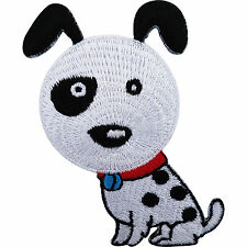 Dog Iron On Patch / Sew On Embroidered Badge for Clothes T Shirt Jacket Coat Bag