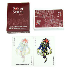 Fashion Red Plastic Playing Poker Cards Poker Letters Game Cards for Poker