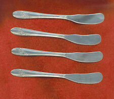 Oneida Tudor Plate QUEEN BESS II 4 Butter Cheese Spreaders Knives Excellent Cond