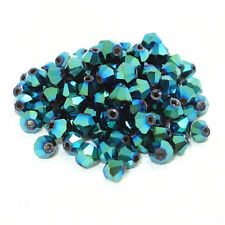 100pcs green ab exquisite 4MM 5301#glitter Crystals luster delicateness Bicone