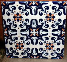 Portuguese old blue intricate and beautiful,decorative CERAMIC TILE design 2