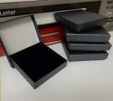 12 Large Jewellery Gift Boxes Dark Grey 20mm deep for Bangles etc for posting