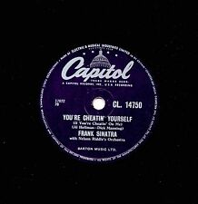 "RARE 1957 FRANK SINATRA 78  "" YOU'RE CHEATIN' YOURSELF "" UK CAPITOL CL 14750 EX"