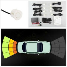 12V White 8 Parking Sensor Off-Road Radar Reversing System Alarming Kit For Jeep