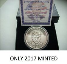 DONALD TRUMP 1 OZ .999 SILVER COIN *ANTIQUE INAUGURATION COIN # CERTIFICATE-BOX