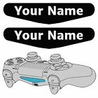 2X Playstation PS4 Controller Light Bar Decal Custom Personalised Vinyl Stickers