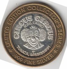 Vintage Circus Circus Casino Tunica, MS .999 Silver Limited Edition Token Chip