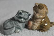 Wade Whimsie chaton avec laine & chaton persan (les deux ont une petite faute) ref 27