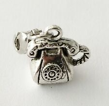 LOVELY SILVER VINTAGE TELEPHONE CLIP ON CHARM FOR BRACELET-TIBETIAN SILVER - NEW