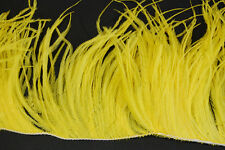"36"" OSTRICH FEATHER FRINGE - YELLOW 3-6"" Craft/Pad/Trim"