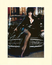 ELVIRA CASSANDRA PETERSON PP 8x10 MOUNTED SIGNED AUTOGRAPH PHOTO