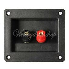 Double Binding Post Type Speaker Box Terminal Cup Connector 90x78mm Square Board
