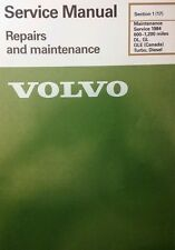 Volvo 240 Service Manual 600-1200 mile Maintenance 1984 Diesel Gas sec 1(17) 36p