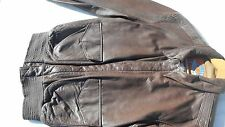 USAF A-2 Leather Flight Jacket MFG Cooper Size 44R Very Good Condition
